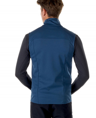 Men Blue Softshell Vest