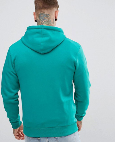 Men Custom Made About Apparels Hoodie In Teal With Panel