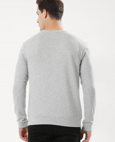 Men Cut And Sew Panel Sweatshirt