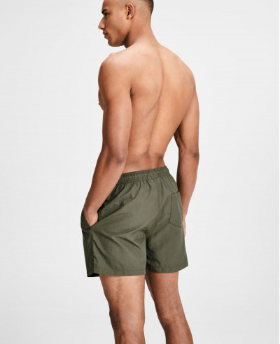 Men Green Custom Swim Short