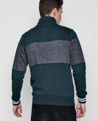 Men High Quality Custom Raglan Sleeve Textured Sweater Sweatshirt