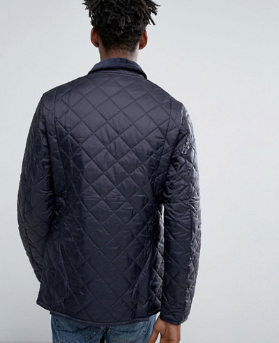 Men High Quality Custom Stylish Quilted Jacket Navy