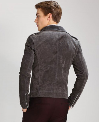 Men High Quality Custom Suede Leather jacket