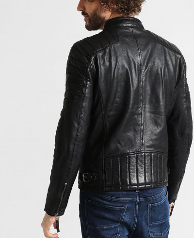 Men Hot Selling Custom Classic Biker Leather Jacket