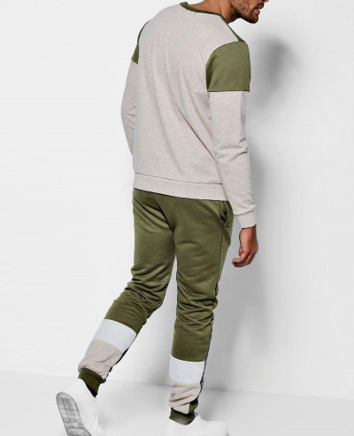 Men Most Selling Colour Block Panelled Slim Fit Jogger