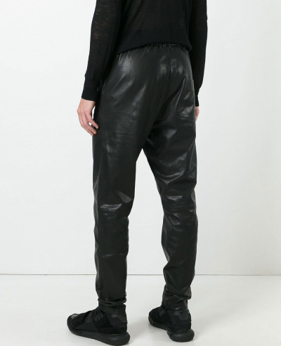 Men Motorcycle Leather Skinny Fit Pant