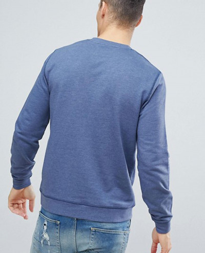 Men New Look Blue Sweatshirt In Denim