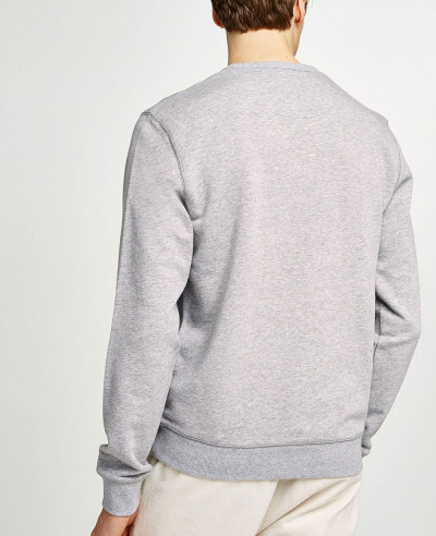 Men Plain Blank Grey Sweatshirt