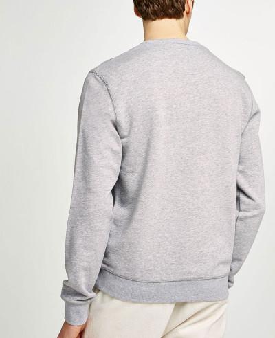 Men Plain Blank Grey Sweatshirt