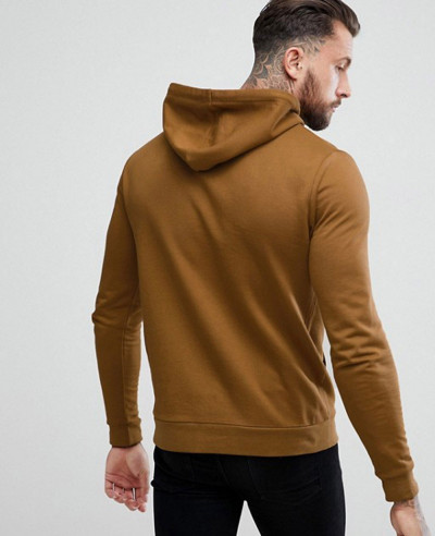 Men Pullover Dark Yellow Gym Hoodie