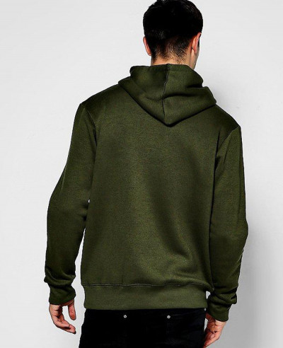 Men Pullover Fit Star Embroidered Hoodie