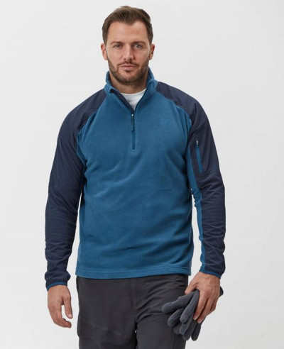 Men Quarter Zipper Fleece Jacket