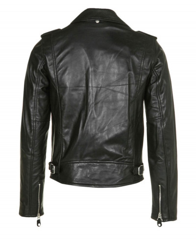 Men Shorts Sheep Leather Jacket