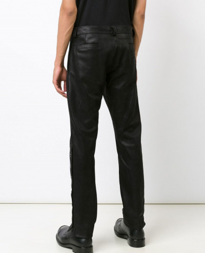 Men-Sstriped-Leather-Trouser-Punk-PU-Leather-Pants-Motorcycle-Biker-Slim-Feet-Rock