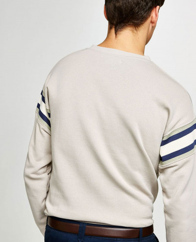 Men-Stone-V-Neck-Ribbed-Sweatshirt