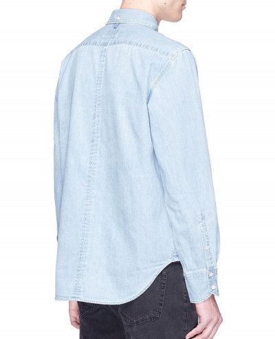 Men Stylish Blue Denim Shirt