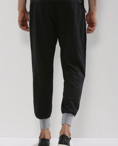 Men Stylish Custom Contrast Cuff & Pockets Sweatpant Jogger
