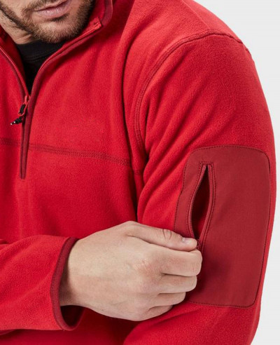 Men Stylish Half Zipper Micro Fleece Jacket
