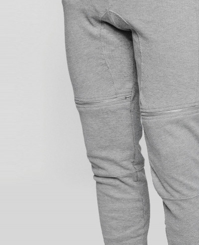 Men Stylish Skinny Fit Biker Zipper Sweatpant Jogger