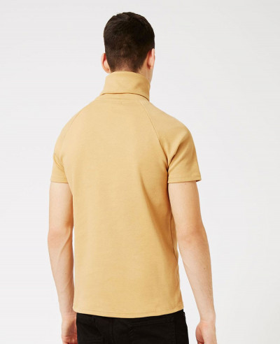 Men Turtleneck Short Sleeve Sweatshirt