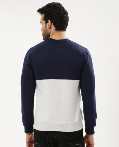 Men Two Tone Color Block Custom Sweatshirt