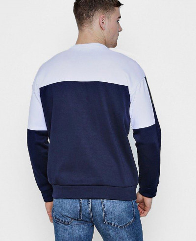 Most-Selling-Fleece-Crew-Neck-Sweat-With-Contrast-Sweatshirt