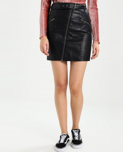 Most-Selling-Lambskin-Leather-Mini-Skirt