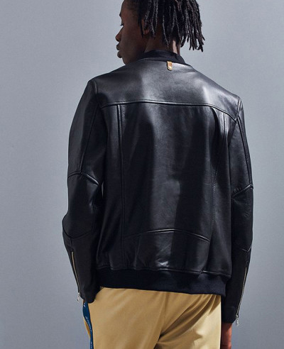 Most Selling Men Leather Bomber Jacket
