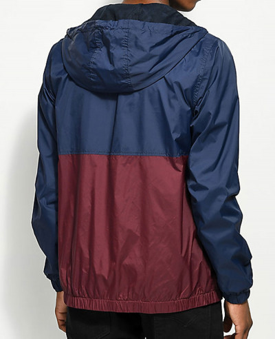 Navy-&-Burgundy-Windbreaker-Jacket