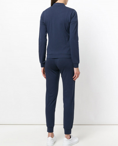 Navy Blue Women Cotton Fleece Tracksuit