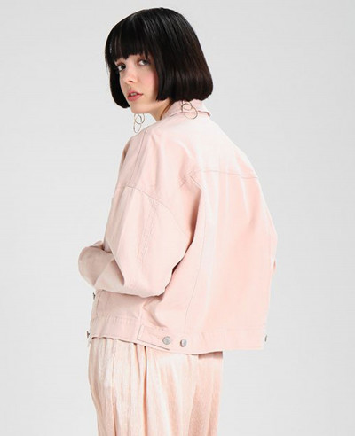 New About Apparels Pink Denim Jacket