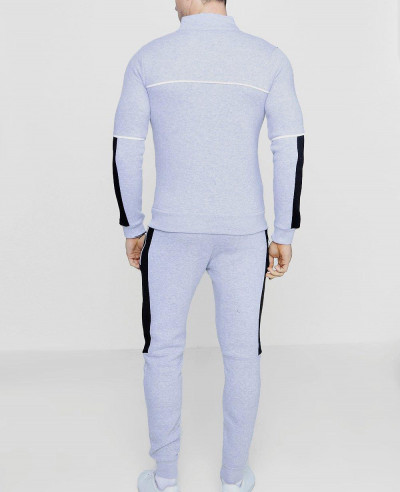 New-Fashion-Colour-Block-Zipper-Through-Tracksuit