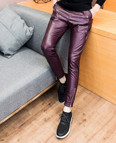 New-Fashion-Men-Pants-Skinny-Motorcycle-Slim-Fit