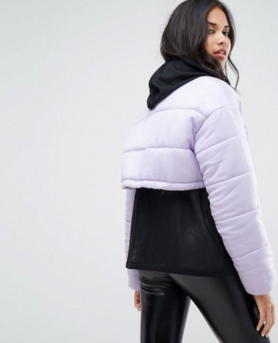 New Fashion Style Women Padded Cropped Jacket