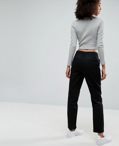 New-Fashion-Stylish-Custom-Women-Chino-Trousers-in-Black