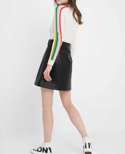 New-Fashion-Women-Leather-Skirt