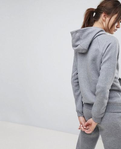 New Fashionable Full Zipper Hoodie In Grey
