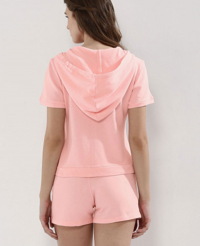 New-Fashionable-Pink-Fleece-Short