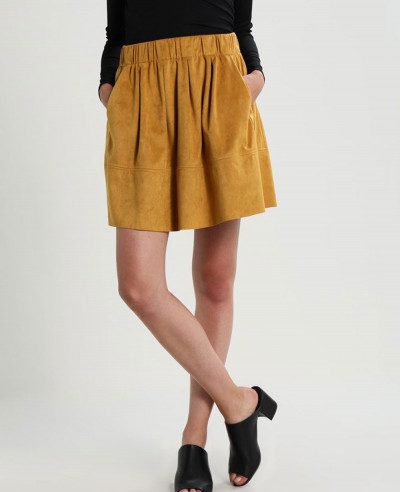 New-Fashionable-Real-Suede-Leather-Mini-Skirt