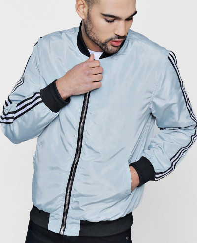 New Fashionable Sports Taping Bomber Jacket