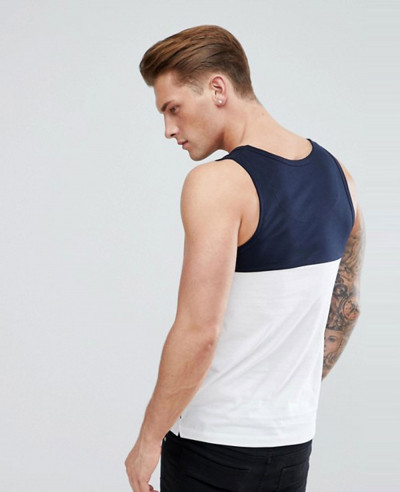 New Fashionable Stylish Block Contrast Vest