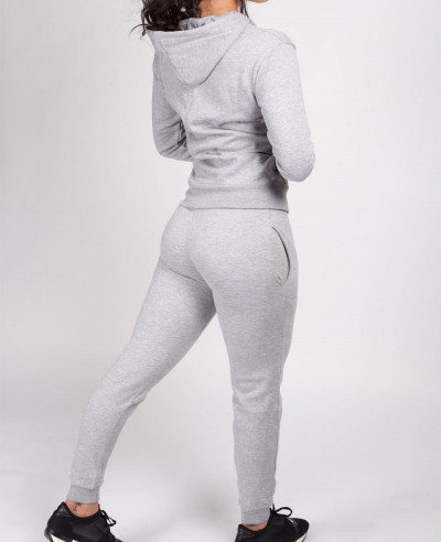 New Grey Hooded Tracksuit Set