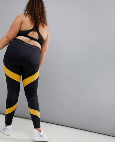New Hot Selling Custom Plus Stripe Panel Legging