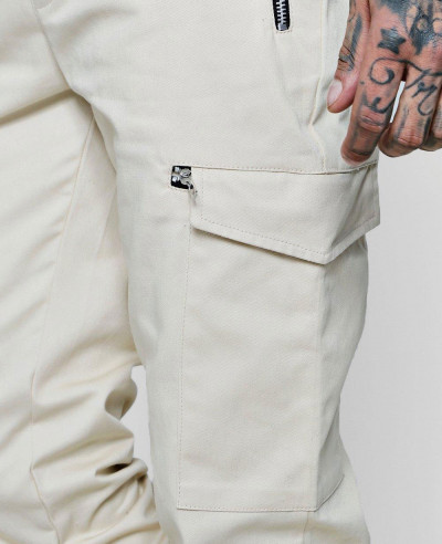 New Hot Selling Custom Woven Jogger Style Cargo Trousers