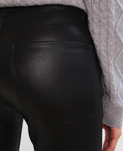 New-Hot-Selling-Fashion-Biker-Leather-Trouser-Pant