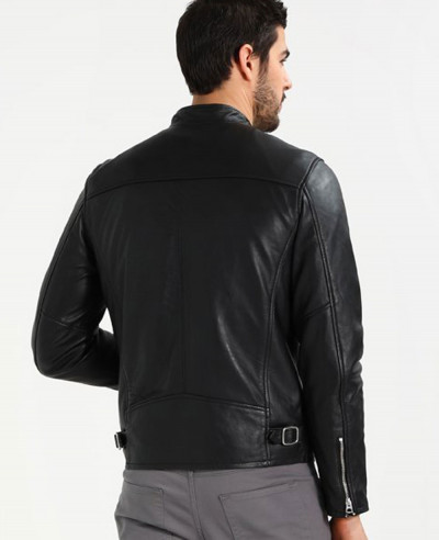 New Hot Selling Men Biker Leather Jacket