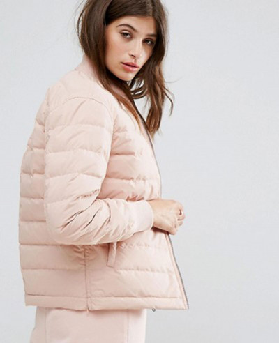 New Hot Selling Women Fashion Quilted Padded Jacket In Pink