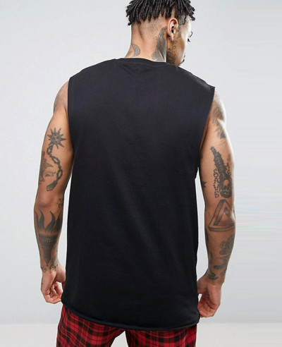 New Longline Sleeveless With Dropped Armhole Tank Top
