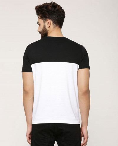 New Look Colour Block With Patch Pocket T Shirt