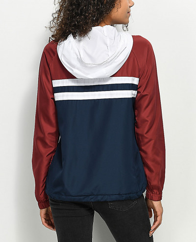 New-Look-Fashionable-Red-White-&-Blue-Windbreaker-Jacket